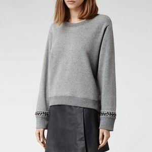 All Saints Soph Crop Sweatshirt.
